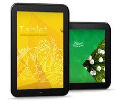 Site para se cadastrar para desbloquear o tablet educacional.