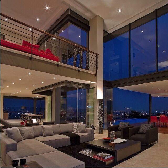 Inside houses living room