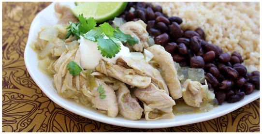 Crock Pot Chicken Chile Verde. Easy | My Food Blog: Tymetocook.weebly ...