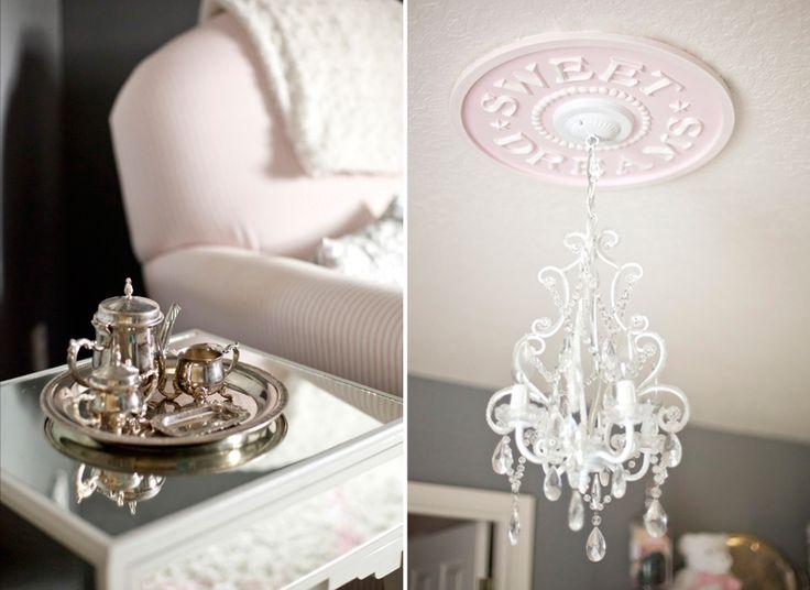 Silver tea set amp sweet dreams ceiling medallion modernmoments
