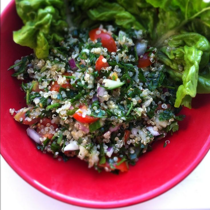 Quinoa Tabbouleh Salad | I Heart Veggies | Pinterest