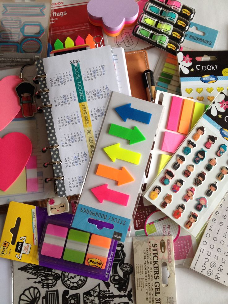 Faux Filofax/ stickers / post it