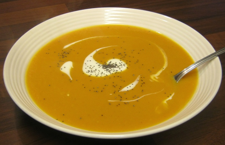 spicy butter-nut squash n sweet potato soup, healthy and a perfect ...
