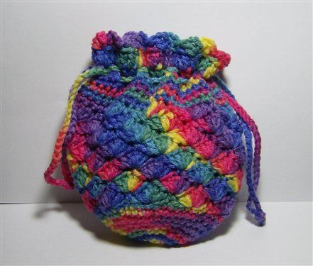 String Bag Crochet Pattern : Found on crochetme.com