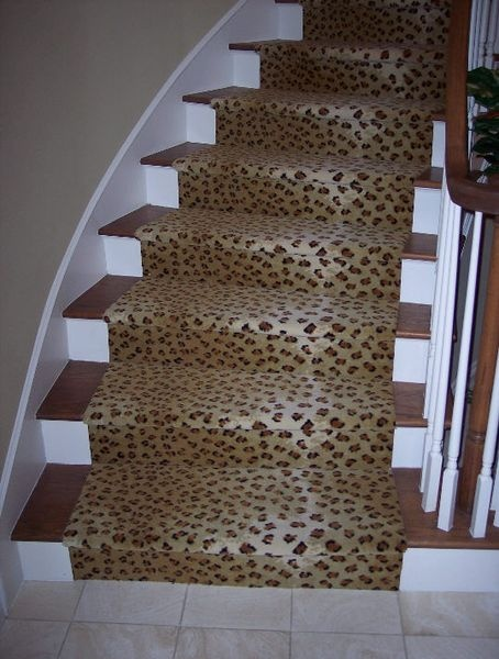 Leopard print stair runner for the home pinterest for Leopard print carpet stair runner