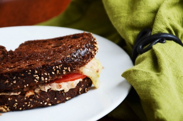 Spicy tuna melt on pumpernickel | Food and Drink | Pinterest