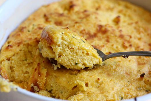 Spoon Bread (Grits + Cornbread = homey, comforting, awesomeness)