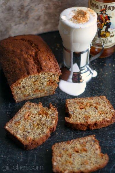 girlichef: Boozy Coconut White Hot Chocolate + Rum-Spiked Banana Bread ...