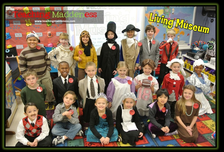living museum after Biography Project. Students will portray the Inventor, Artist, Political figure they have been studying