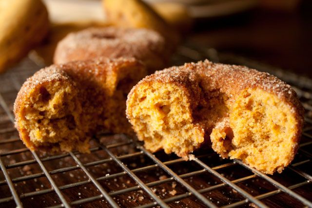 ... and Spicy Baked Pumpkin Donuts- less than 120 calories per donut