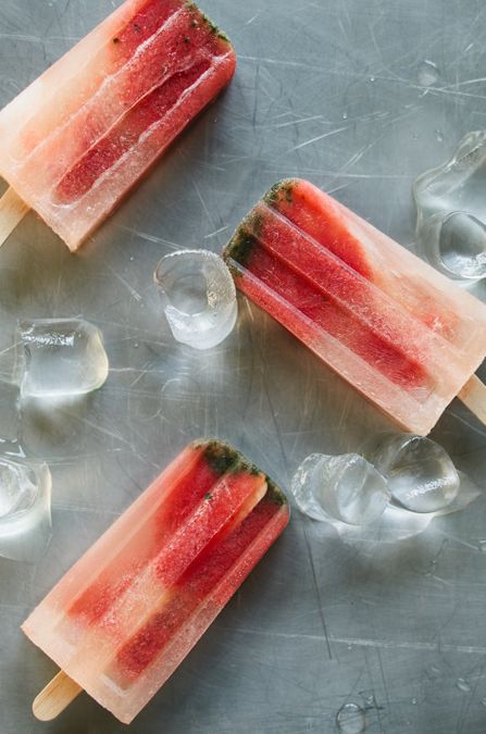 Watermelon mojito pops | SweetTooth. | Pinterest