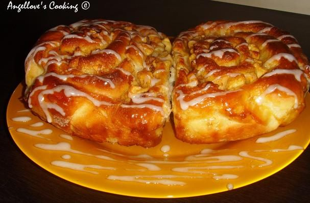 ... and Food News | Caramel Apple Cinnamon Rolls With Raisins and Walnuts