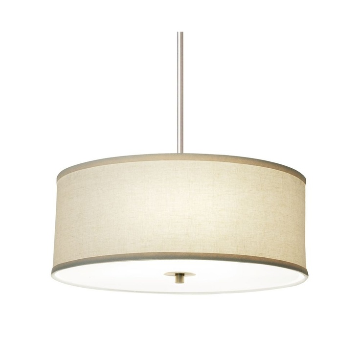 modern drum pendant light with linen shade