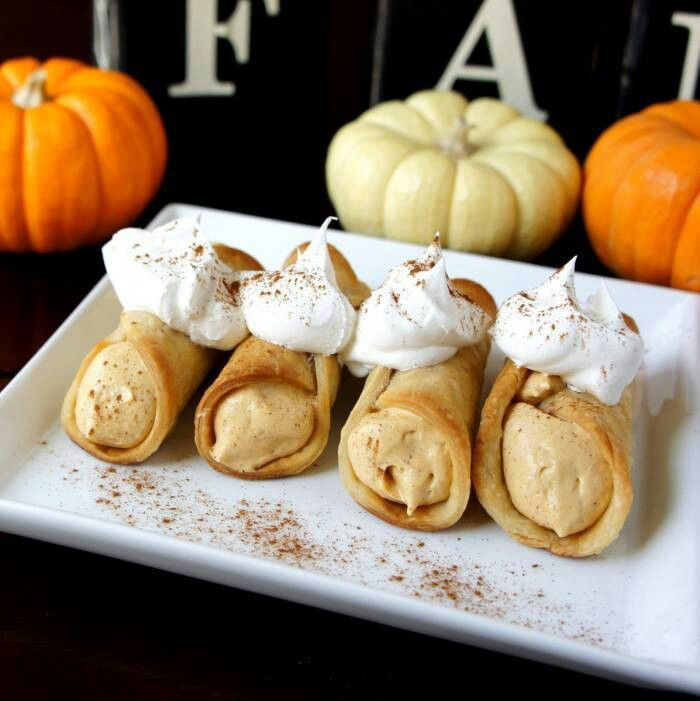 Skinny Pumpkin Pie Cannolis | Desserts and anything sweet ! | Pintere ...
