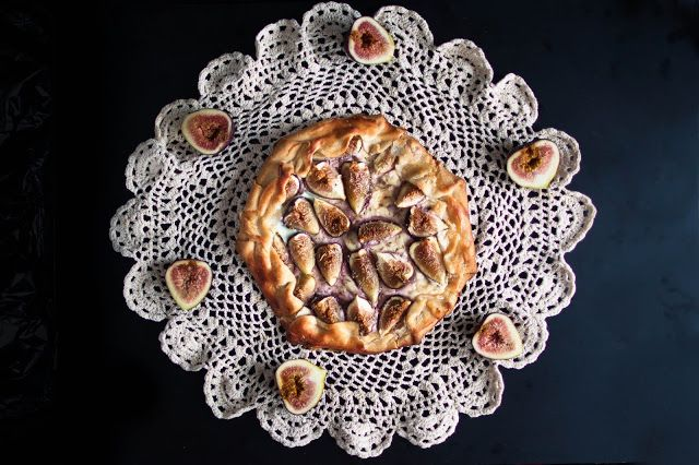 Fig, goat cheese, and honey galette | Desserts | Pinterest