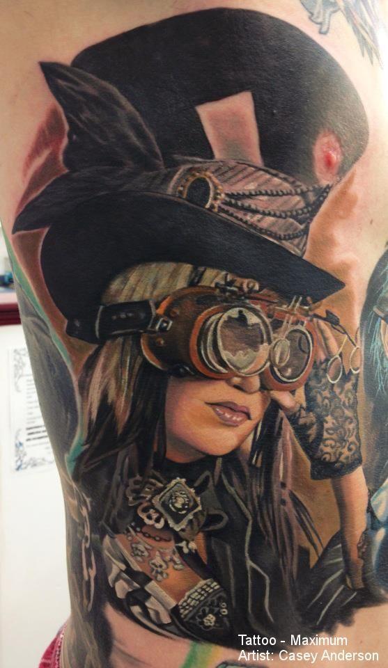 Cat In A Top Hat Tattoo