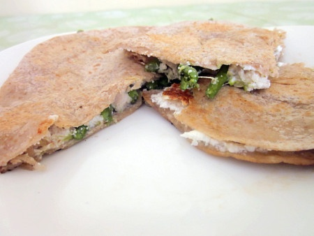 Chicken, Asparagus & Goat Cheese Quesadilla