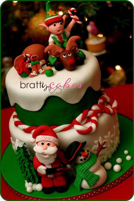 Christmas Cake modelado polymer clay porcelana fria masa flexible pasta francesa fimo pasta goma pun paste