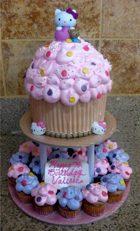 Hello kitty cake amp cupcakes decorating ideas to try pinterest