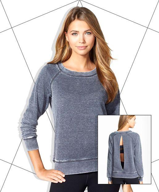 marc new york by andrew marc keyhole back distressed fleece sweatshirt