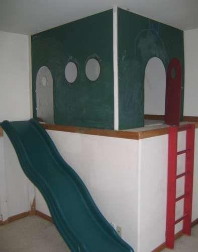 Simple diy indoor playhouse playroom pinterest for Diy indoor playhouse