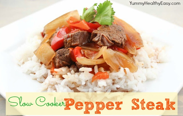 Yummy. Healthy. Easy.: Slow Cooker Pepper Steak