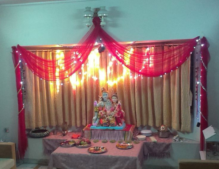 Comganpati Home Decoration : , the fragrance of incense sticks enhances the beauty of #Ganesha ...