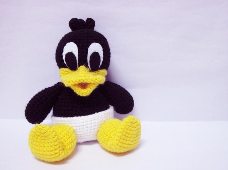 Amigurumi Daffy Duck : A baby daffy duck!!! For Memaw Daphne Pinterest