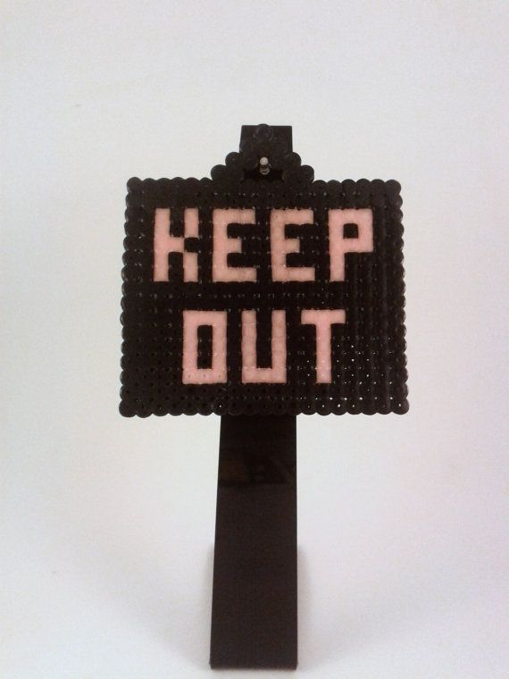 keep out bedroom door sign black and glow in the by puffytheslayer