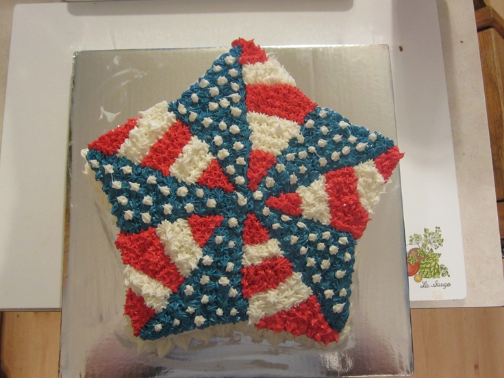 4th Of July Or Memorial Day Cake Cake Design Ideas Pinterest