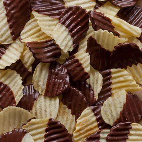 Chocolate Covered Potato Chips   Wandies food.   Pinterest