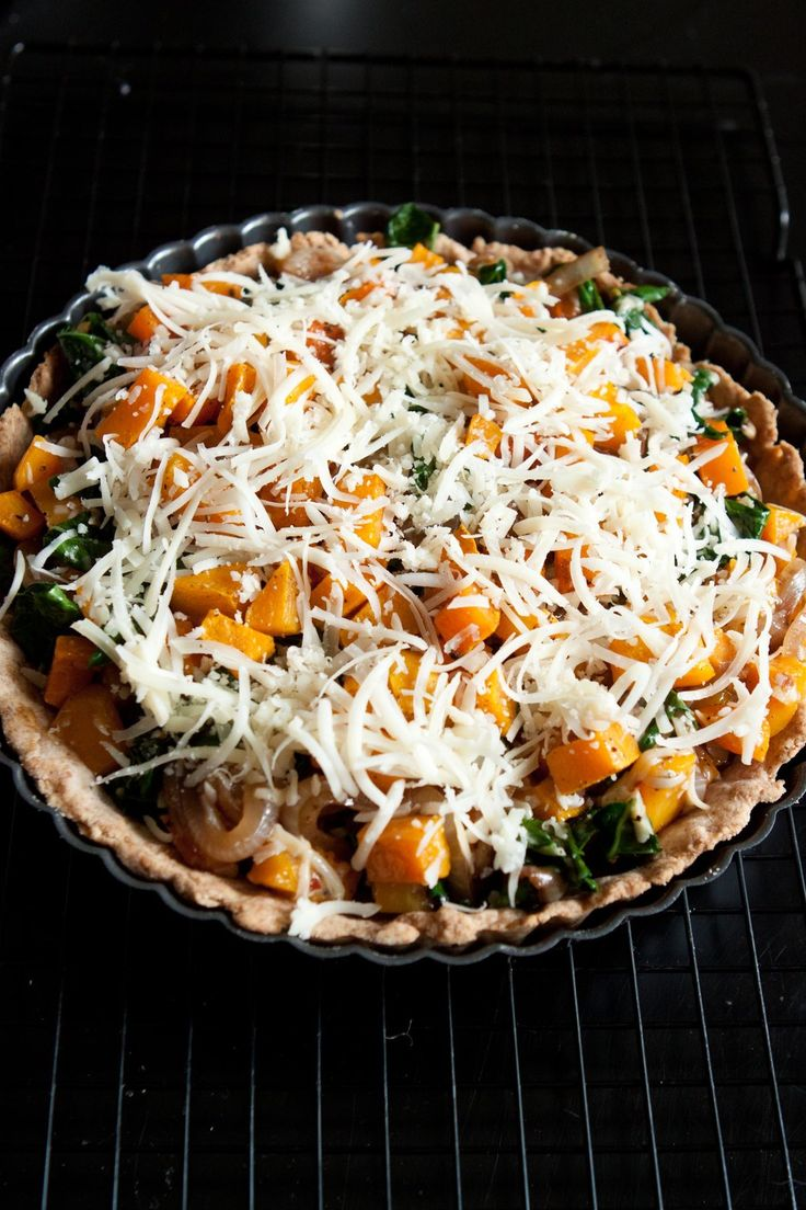 Kale and Butternut Squash Tart | Cooking | Pinterest