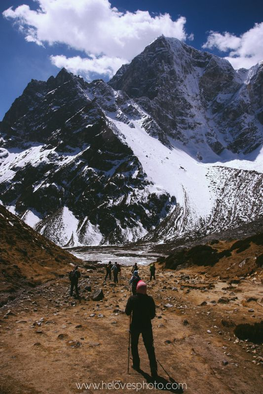 Descending from Mt. Everest Base Camp. Day 7 of our trek through the Everest Region of Nepal.