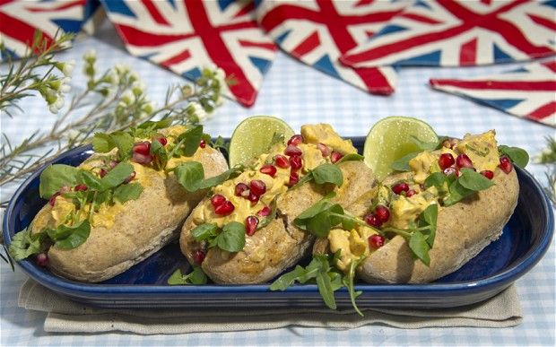 Coronation chicken rolls for the Jubilee