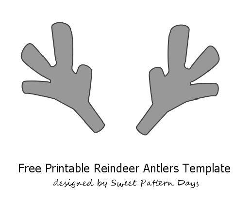 Printable Reindeer Antlers Template | Christmas Printables | Pinterest