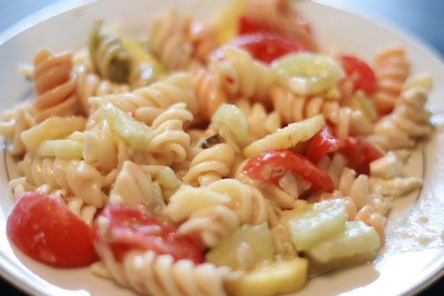 Garden Pasta Salad | Cook This | Pinterest