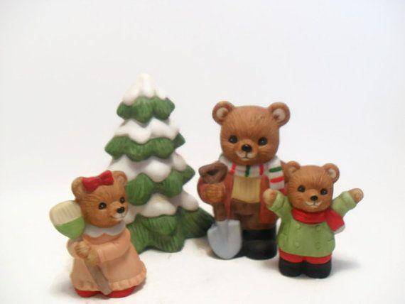 Comhome Interior Bears : Comhome Interior Bears : Vintage Home Interiors Christmas Bears Set by ...