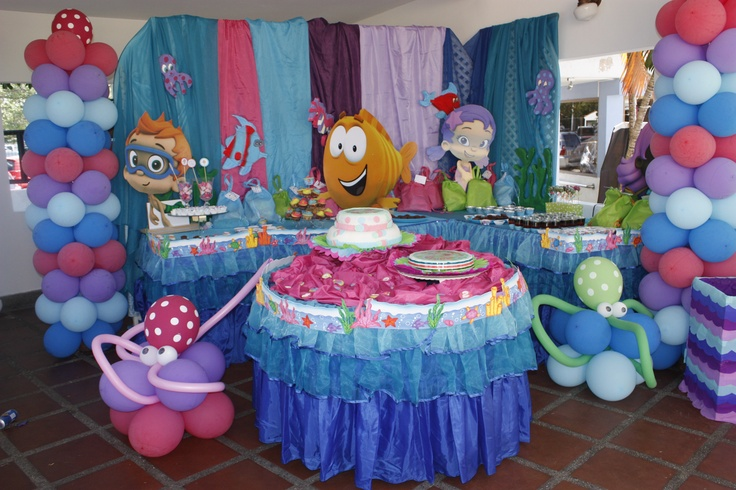 Bubble guppies party s ideas el cumplea os n mero 2 de mi beb con los bubbles guppies bubble - Bubble guppie birthday ideas ...