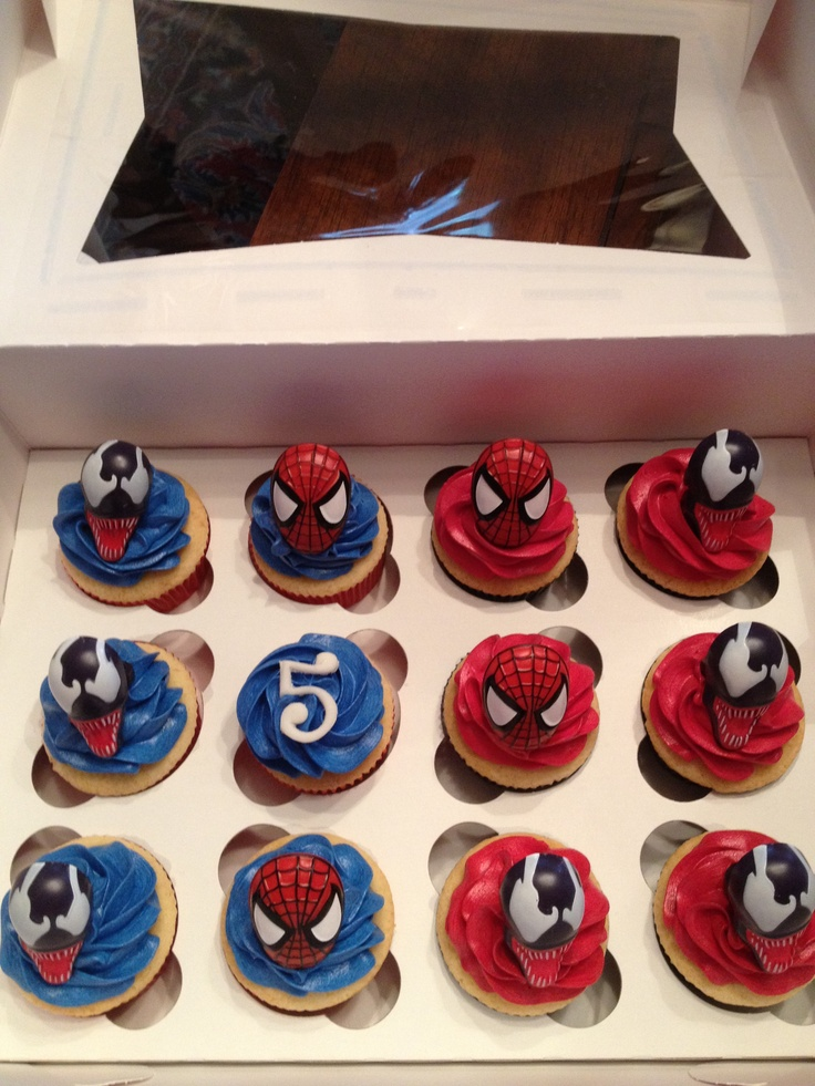 Spider Man Cupcakes by Black Tie Cupcake Company
