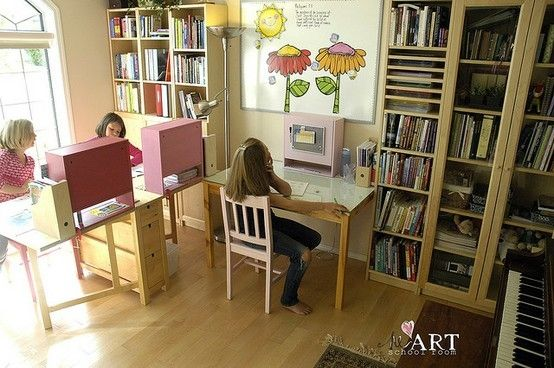 Homeschool room by beverley decor l o v e pinterest for Home school room ideas