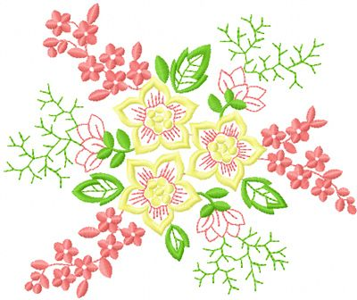 Simple Hand Embroidery Designs Of Flowers Images