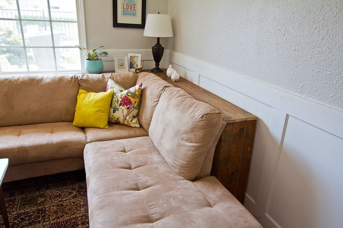 Diy behind the sofa table diy ideas pinterest for Table behind couch