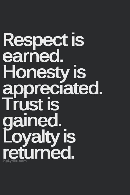 Respect  Honesty  Trust  LoyaltyQuotes About Trust And Loyalty