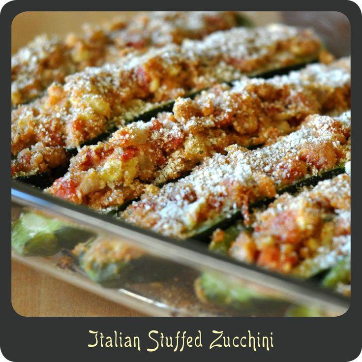 Italian Stuffed Zucchini a.k.a. Zucchini Boats