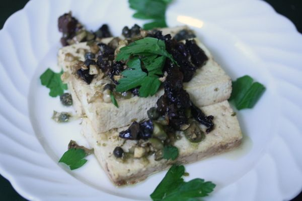 Tofu Marbella. For the rare occassions I eat soy.