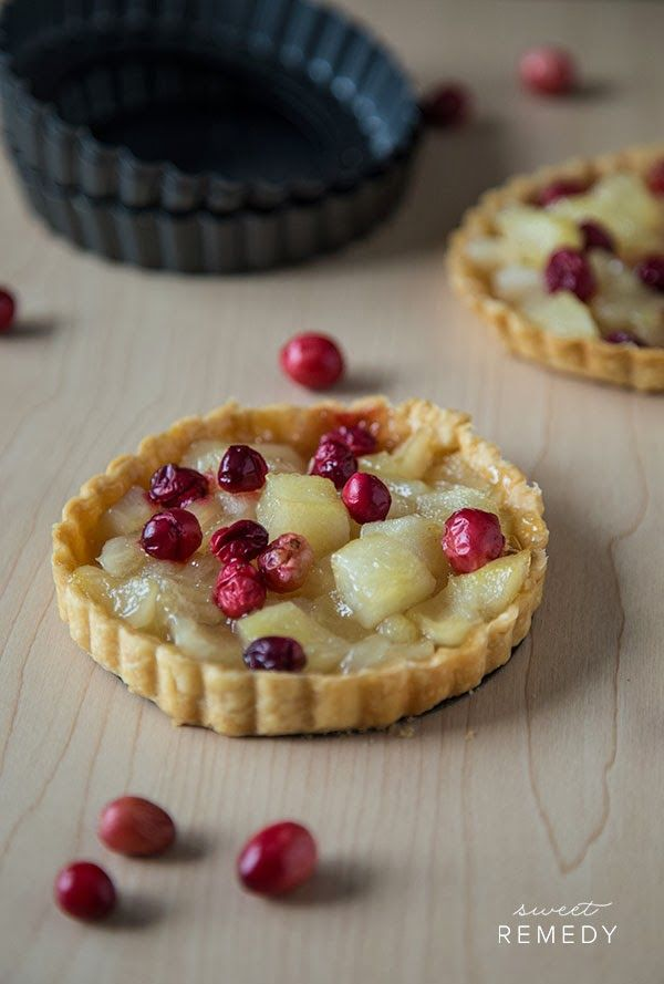 Pear and Cranberry Tarts | Pies and Tarts | Pinterest