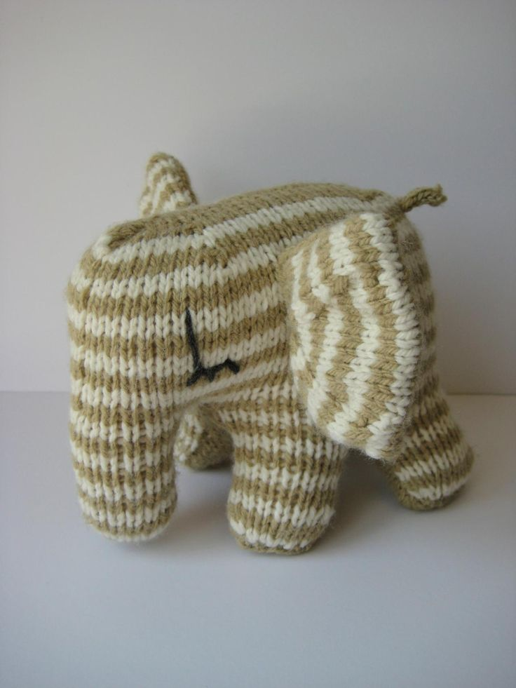 Peanut Butter elephant toy knitting pattern Sewing ...