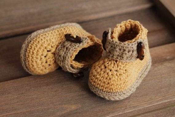 Crochet Bootie Pattern for Boys,