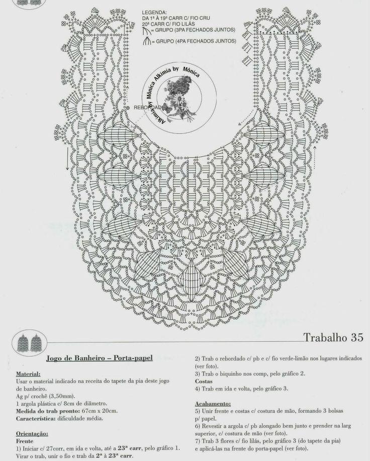 Вязание коврика крючком для ванной комнаты схемы
