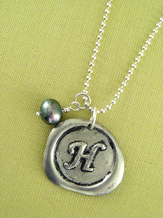 initial necklace silver i love jewelry